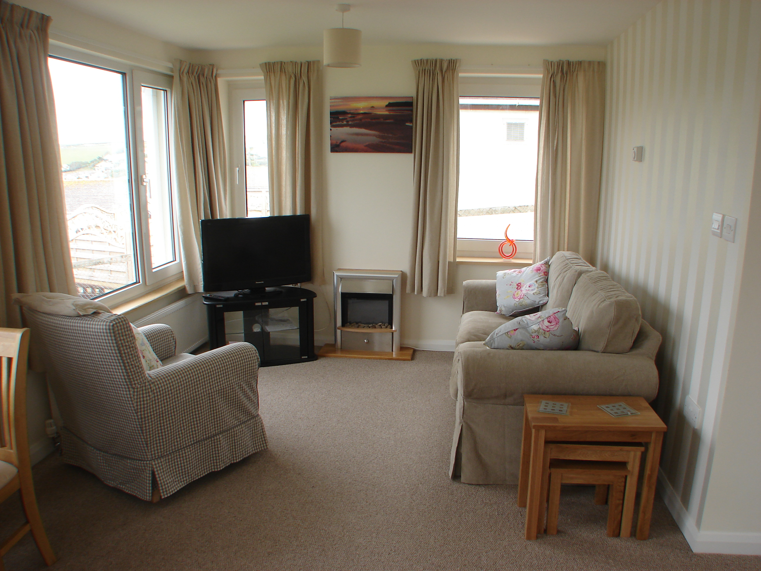 Polzeath Chalet Living Room