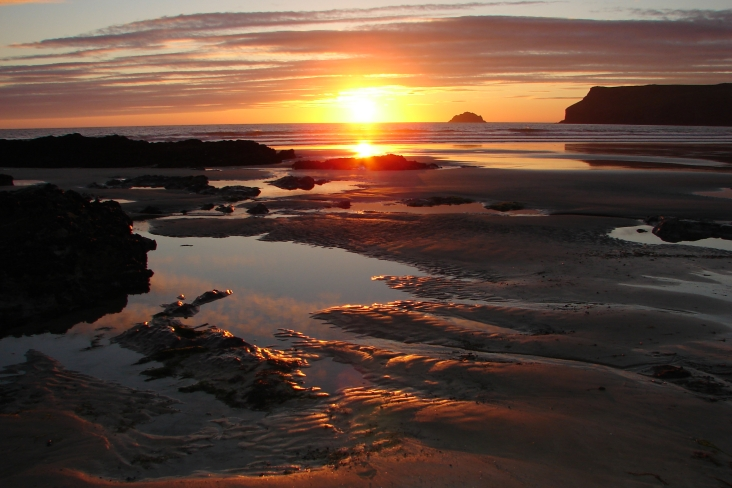 Polzeath Chalet Sunset