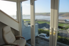 Polzeath Chalet Balcony View